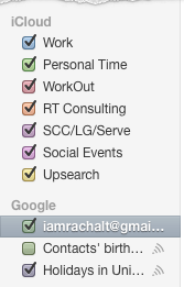 iCal synced with Google Cal